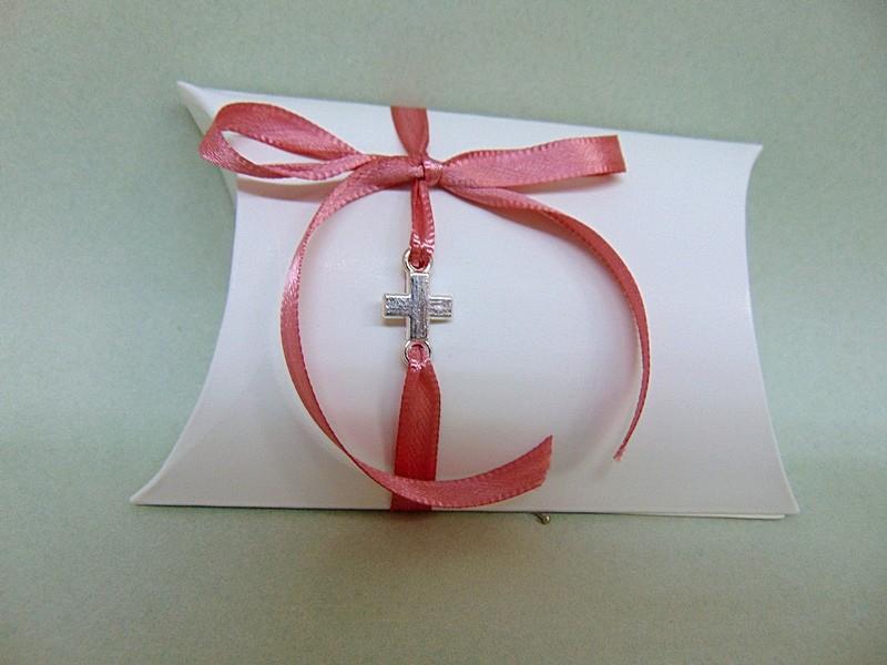 bffbcabf2367 Μπομπονιέρα βάπτισης κουτάκι με σταυρό σε χρώμα ασημί ή χρυσό