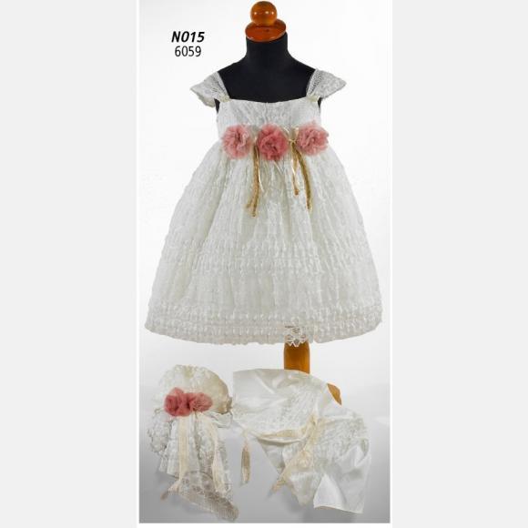 Βαπτιστικό ρούχο για κορίτσι Ν-015