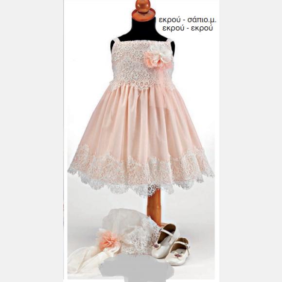 Βαπτιστικό ρούχο για κορίτσι Θ-101