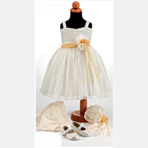 Βαπτιστικό ρούχο για κορίτσι Θ-102