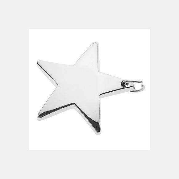 Μπομπονιέρα βάπτισης κρεμαστή με μεταλλικό αστέρι