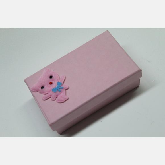 Μπομπονιέρα βάπτισης για κορίτσι κουτάκι ροζ
