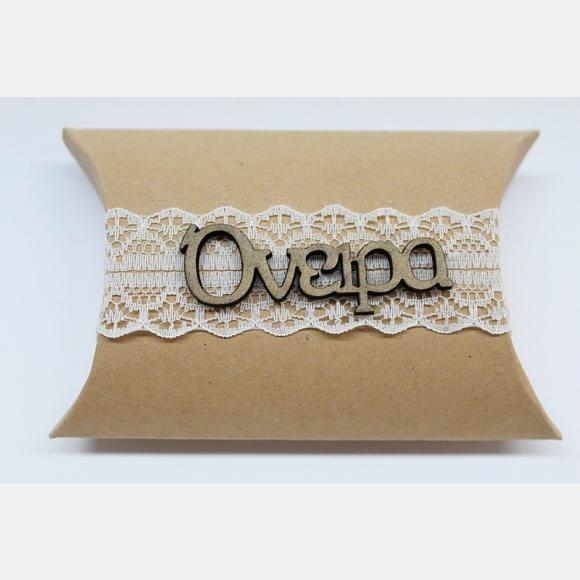 Μπομπονιέρα γάμου κουτί κραφτ και ευχές