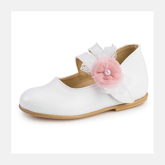 Παπούτσια βάπτισης βαδίσματος gorgino κωδ. 2211 λευκά