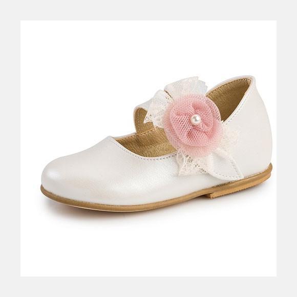 Παπούτσια βάπτισης βαδίσματος gorgino κωδ. 2211 εκρού