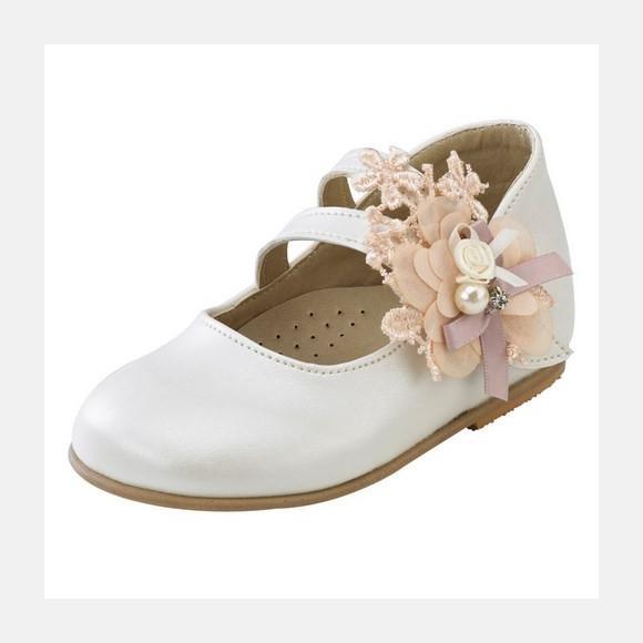 Παπούτσια βάπτισης βαδίσματος gorgino κωδ. 2094 λευκά