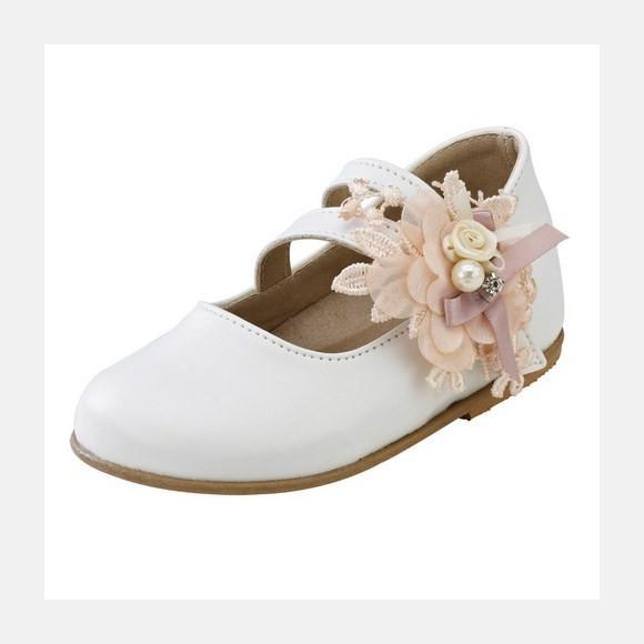 Παπούτσια βάπτισης βαδίσματος gorgino κωδ. 2094 εκρού
