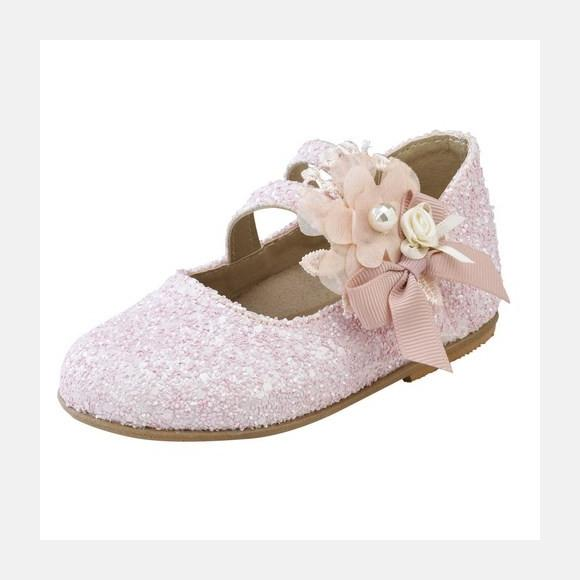 Παπούτσια βάπτισης βαδίσματος gorgino κωδ. 2091 ροζ