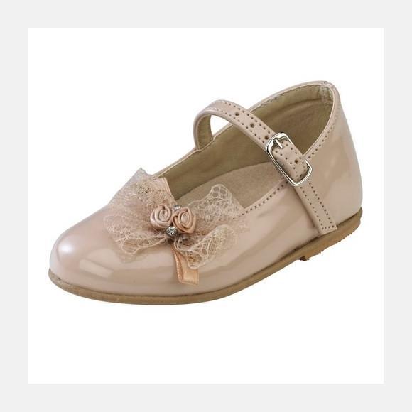 Παπούτσια βάπτισης βαδίσματος gorgino κωδ. 2080 μόκα
