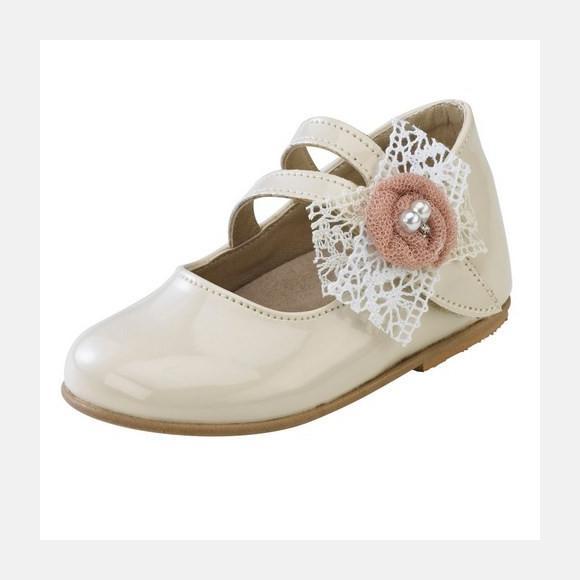 Παπούτσια βάπτισης βαδίσματος gorgino κωδ. 2041 εκρού