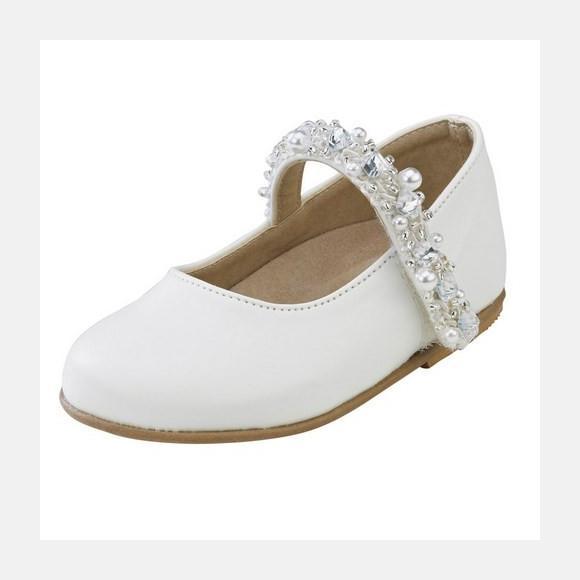 Παπούτσια βάπτισης βαδίσματος gorgino κωδ. 987 λευκά