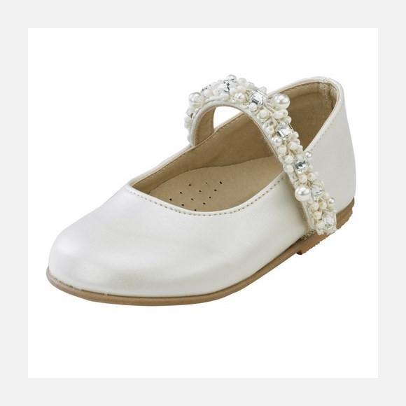 Παπούτσια βάπτισης βαδίσματος gorgino κωδ. 987 εκρού