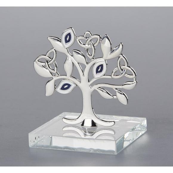 Μπομπονιέρα γάμου δέντρο της ζωής με μάτι σε γυάλινη πλάκα